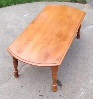 VERY NICE COFFEE TABLE EXCELLENT CONDITION SANDED AND VARNISHED