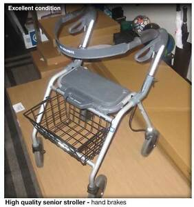 Walker with basket and hand brakes - Excellent condition