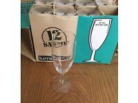 luminarc champagne glasses x 12 Brand New in Box