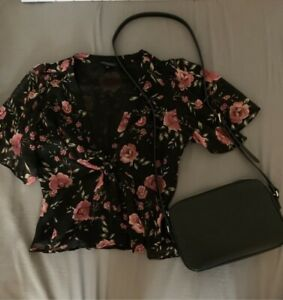 Small floral top from dynamite & black satchel