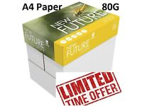 A4 Paper 80 Gsm New Future Top Brand High speed Printer Paper Free UK Delivery