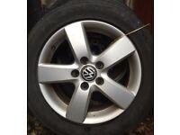 VW / Audi Alloys & Tyres 205 55 16 with winter tyres