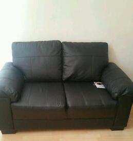 1 Double and 1 Three Seaters Leather Sofa