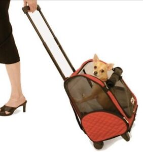 Cat Small Dog Wheeled Luggage Pet Carrier Backpack