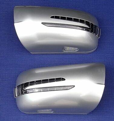 Spiegelkappen LED Blinker für Mercedes W202 R129 SILBER 744