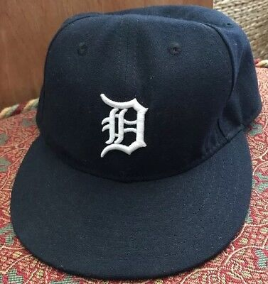 promo code be2a0 3d643 Detroit Tigers 1998-2006 Navy Blue New Era 59fifty Authentic Hat Cap Size 7