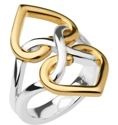 Links Of London Infinite Love Ring Two Tone Size L Gold Silver Brand New
