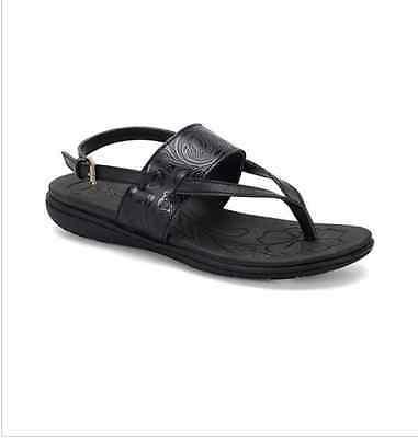 "NIb New Women b..c By Born ""Reagan"" Casual Sandals Black Size 7"