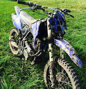 250cc Blue dirt bike, barely used, Japanese model