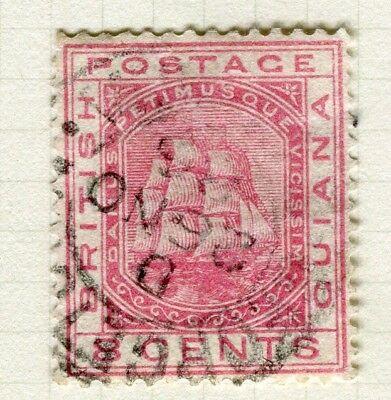 BRITISH GUIANA; 1882 early fine used issue 8c. value