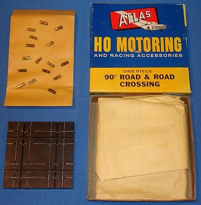 ATLAS HO SCALE SLOT CAR RACING TRACK 90 DEGREE ROAD & ROAD CROSSING #1244 NMIB, used for sale  Shipping to India