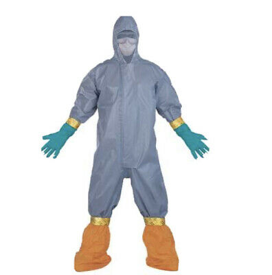 Chemical Hazard Kit Protective Coverall Hazmat Suits Masks Ppe Protection Large