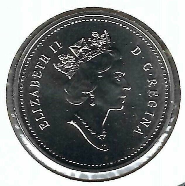 1997 Canadian Proof Like Twenty Five Cent coin!
