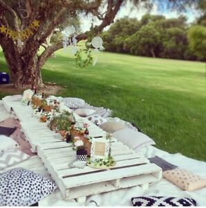 150 Full Hire Boho Pallet Style Picnic Hire Package Baby