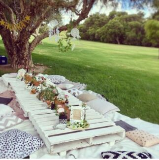 Boho Picnic Table Picnic Tables For Hire Party Hire