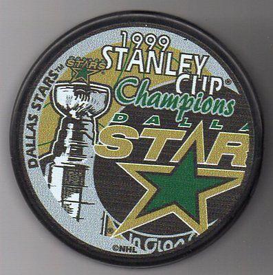 Dallas Stars 1999 NHL Stanley Cup Champions Hockey Puck + FREE -