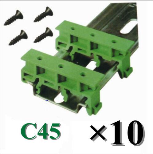 DIN C45 35mm PCB Schiene Din-Rail Adapter Hutschienenadapter Halter Halterung DE