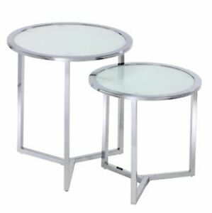 Glass End Tables (Set of 2)