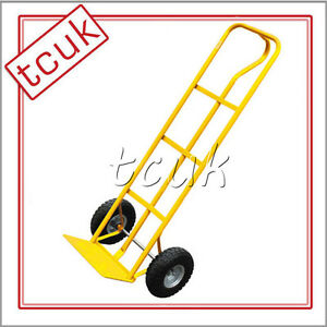 600LB HEAVY DUTY SACK TRUCK INDUSTRIAL HAND TROLLEY TYRE PNEUMATIC WHEEL NEW