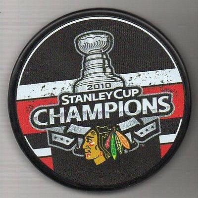 Chicago Blackhawks 2010 NHL Stanley Cup Champions Hockey Puck + FREE Cube