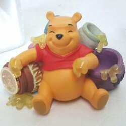 Walt Disney Winnie the Pooh Hunny Pots Figurine 3 Desk Clock Quartz Clock