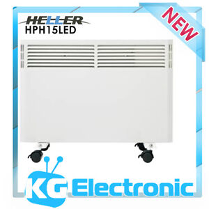 Heller 1500W Panel Convection Heater + LED Display 24 Hour timer Wall mountable