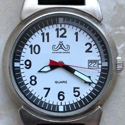 MEISTERANKER 145.301 8/30 Armbanduhr mit klarem Ziffernblatt und großem Datum