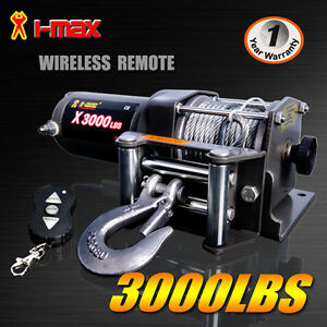 Wireless 3000LBS/1360kg12V Boat ATV 4WD Electric Winch