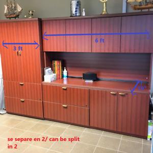 Ensemble armoire et bureau