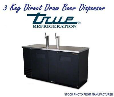 True 3 Keg Direct Draw Beer Dispenser Kegerator