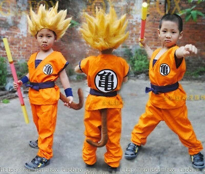 Dragonball Kids Dragon Ball Z Son Goku Logo Cosplay Costume Suit Halloween - Dragon Ball Z Suit