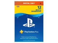 12 Months Playstation Plus Membership **RRP £49.99**