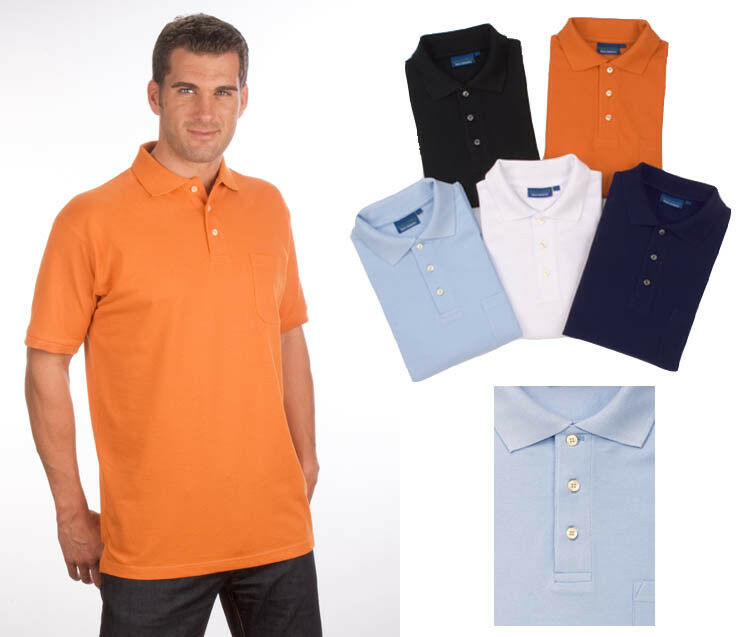 Kurzarm Poloshirt mit Brusttasche Qualityshirts Gr. S - 8XL