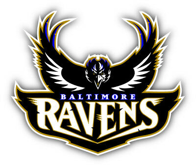 Baltimore Ravens NFL Football Combo Car Bumper Sticker Decal - 3'', 5'' or 6'' (Baltimore Ravens Dekorationen)