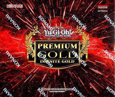 YU-GI-OH Premium Gold INFINITE GOLD 1st Edition SEALED BOOSTER BOX YUGIOH