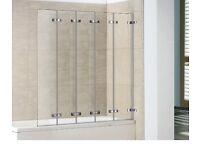 5 Panel Frameless Bathscreen
