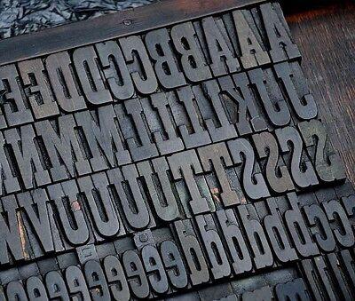 Letterpress Wood Printing Blocks 202pcs 1.77 Tall Alphabet Wooden Type Woodtype