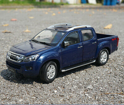 1/18 ISUZU Original manufacturer blue D-MAX pickup truck alloy model