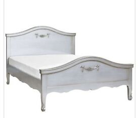 Dunelm Toulouse silver double bedstead