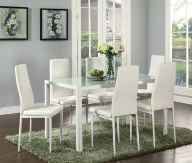New Modern Dining Table Set(Table With 4 Chairs) White | Dining Tables |  Gumtree Australia Monash Area   Notting Hill | 1184188913