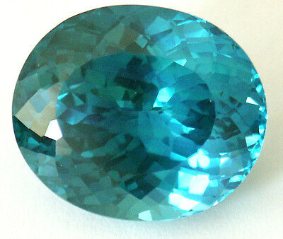 25x22 mm 90.7 cts Oval Fancy Lab Created Bluish Green Spinel
