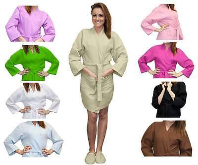 Customized Thigh Length Waffle Weave Kimono for Bridesmaids Robe with Embroidery (Waffle Robes For Bridesmaids)