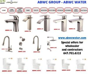Faucets, Toilets, Sinks, Bathtubs, Led Bulbs, Metal Roof Sheets