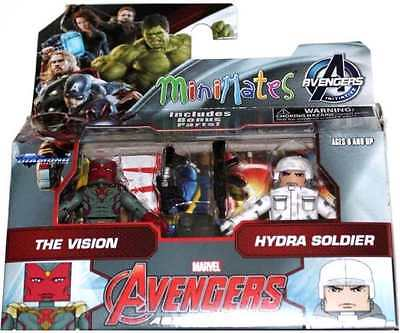 MARVEL MINIMATES AVENGERS INITIATIVE VISION & HYDRA SOLDIER 2 PACK #soct16-135