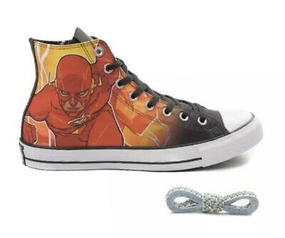 Converse All star Chuck Taylor high top shoe DC the Flash Special Edition Size 9](Converse All Star Cheap)