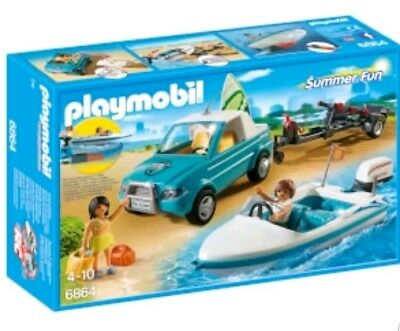 Playmobil 6864 Summer Fun Sufer Pickup with Speedboat / underwater Motor