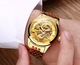 Gold Dragon 3D Watch