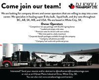 Class 1A Drivers Needed Company & Owner Operators-Signing Bonus