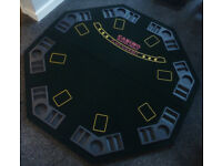 Poker Set .. Folding Table Top, 6 Tins Poker Chips & Card Shuffler