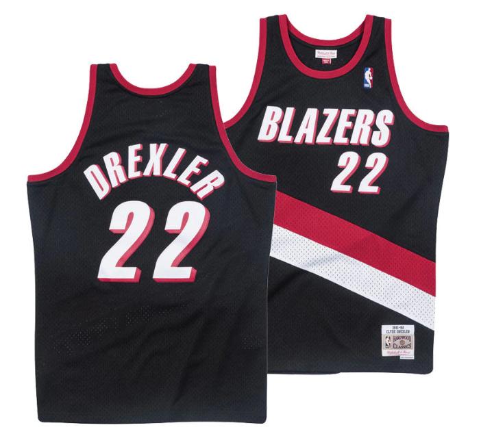 6c31f051cc2 Clyde Drexler  22 Portland Trail Blazers Mitchell Ness NBA Mesh Throwback  Jersey
